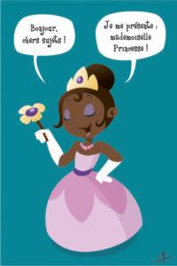 Carte postale_mademoiselle_princesse